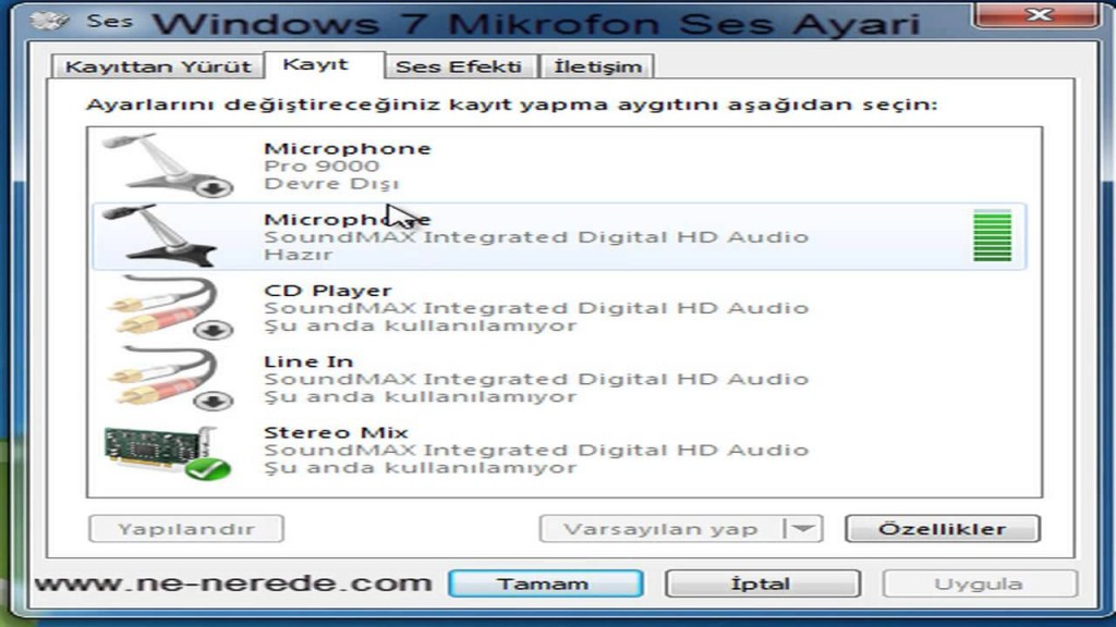 Sesli Chat Windows 7 Mikrofon Ses Ayarlari